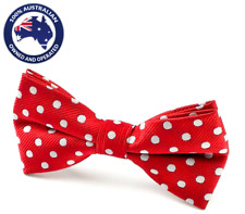 Men's Bowtie Maroon White Polka Dots Bow tie Dotted Casual & Party Ties for Men