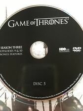 Game of Thrones Season 3 disc 5 Replacement Disc DVD ONLY