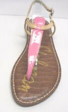 Sam Edelman Size 6.5 Pink Tan Leather Sandals New Womens Shoes