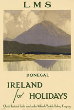 Ireland For The Holidays -  Donegal - 1930's - Travel Poster