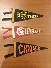 Vintage Sports Mini Pennant Lot-Detroit, Cleveland & Chicago !
