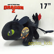 """How to Train Your Dragon 2 Toothless Plush Night Fury Soft Toy Teddy Doll 17"""""""