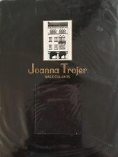 2 Pr Joanna Trojer Bas E Collants Black Pantyhose Sheer Satin Control Top Size 4
