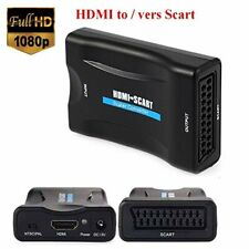 EMEBAY - 1080P HDMI vers Scart Péritel Convertisseur Vidéo Audio Adaptateur de S