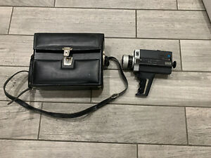 Vintage Bell Howell 673XL 8.5mm Video Camera Zoom Lens And Custom Leather Bag