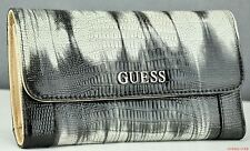 Guess Choice Modern Ladies Wallet Delaney Black Multi Women Purse SLG Genuine