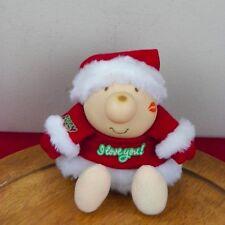 Christmas Ziggy Plush Santa Claus Vinyl Head 1987 American Greetings I Love You