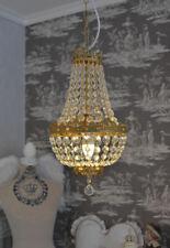 Basket chandelier crystal lighting ceiling lamp candelabra lustre brass drops
