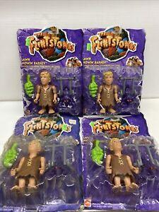 Lot Vintage The Flintstones Movie Lawn Mowin' Barney Action Figure 1993 Mattel