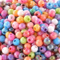 500 Neu Mix  Farbe Rund Acryl Spacer Beads Kugeln Basteln 6mm hello-jewelry