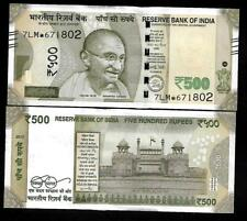 "Rs.500/- Urjit Patel  Star Note ""E"" Inset  Prefix 7LM  2017 - UNC  LATEST"