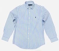 Ralph Lauren Men's Slim Fit Cotton Stretch Striped Shirt In Blue/White In Size L