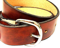 Handmade 1 1/4 Wide Men Leather Belt Brown Western Work Dress Belt USA Made
