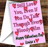 NEW PERSONALISED NOVELTY VALENTINES DAY CARD ADD ANY NAME & TEXT! 4