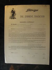 Vintage Circa 1905 W C Franciscus The Eminent Magician Unsigned Contract