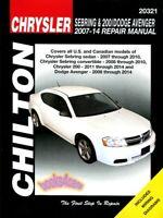 SEBRING CHRYSLER SHOP MANUAL SERVICE REPAIR BOOK CONVERTIBLE CHILTON HAYNES