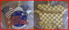 Planet Hollywood WASHINGTON DC 1990s US Flag & Eagle on R/W/B GLOBE LOGO PIN New