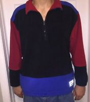 Eddie Bauer EBTEK Vintage 1/4 Zip Fleece Pullover Color block Men's Size Large