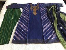 Pakistani Embrioded Designer LAWN Suit STITCHED SHALWAR KAMEEZ L Readymade Sale