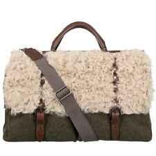 Dolce & Gabbana Cuero Piel Bolsa de Viaje Weekender Caqui Braun Beige 08820