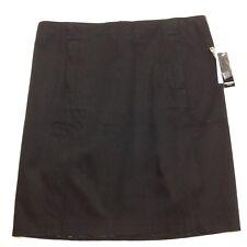 Premise Studio Skirt Black Cotton Pique Lined Size 10 MSRP $58