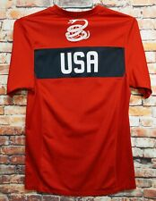 2010 Nike Usa Soccer Jersey Small Red Training Dri Fit Us National Team Futbol