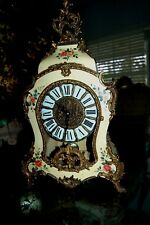 "Gorgeous Brass Inlay  Boulle Clock ""Franz Hermel German Movement"" Works Great"
