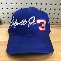 Vintage Dale Earnhardt Jr #3 Blue NASCAR Racing Baseball Cap Snapback Hat EUC