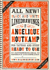 Angelique Houtkamp ALL KILLER NO FILLER tpb NEW Linedrawing Book for Tattoos