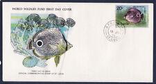 WWF enveloppe 1er jour   St Lucie  poisson papillon a quatre yeux