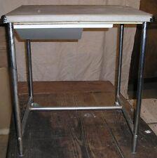 table bureau à tiroir latéral design indus atelier 60's