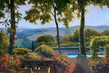 """Stretched Orig. Oil Painting """"Beautiful Tuscany"""" 24x36"""""""