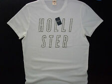 NWT HOLLISTER BY ABERCROMBIE MENS XL LITTLE HARBOR T-SHIRT WHITE SHORT SLEEVE