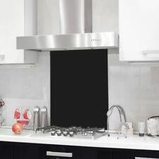 Colour Toughened Glass Heat Resistant Black Splashback