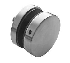 Edelstahl V2A Punkthalter Glashalter Plattenhalter Ø50 mm flach Glasvordach