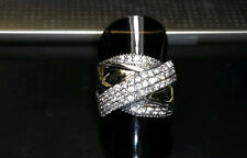 Two Tone Sterling Silver & 9k Gold Ring size Q SAME DAY SHIPPING