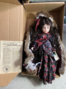 Robin Woods Gina. The Earthquake Commemorative Doll NRFB 308/500