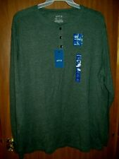 New Men'S Apt. 9 Long Sleeve Soft Touch Henley Shirt Sz 2Xl Scarab Green
