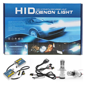 New HID Xenon Headlight Conversion Kit H4 9003 Low High Beam 3200LM 4300K 9-16V