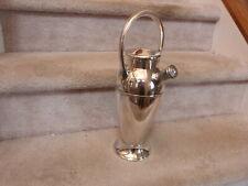 VINTAGE ART DECO Handle Twist-A-Mixer Cocktail Shaker Silver Plated E394 48 oz.