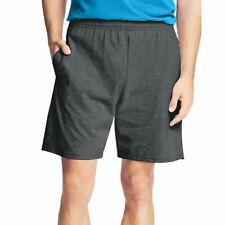 104add45 Hanes Men's Jersey Short With Pockets Black 4x Large