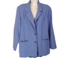 Alfred Dunner Jacket Blazer Women Size 12 Purple Lilac Long Sleeve 2-Button