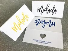 Wedding Name Placecards Personalised Name Custom Escort Cards Guest Name Table