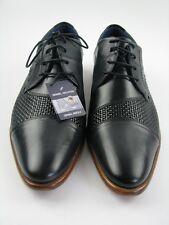 Daniel Hechter 811-22907 Business  grau/schwarz Leder Gr.43