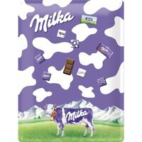 Magnettarfel Magnet Board Pinnwand Milka + 9 Milka Magnete