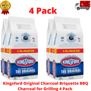Kingsford Original Charcoal Briquette BBQ Charcoal for Grilling 4 Pack