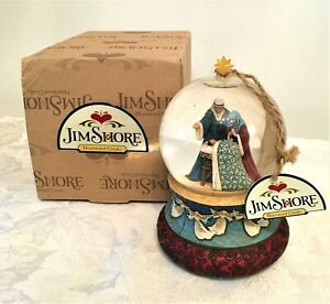 Jim Shore Heartwood Creek Holy Family Musical Water Ball 2007 Boxed