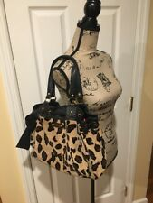 JUICY COUTURE Tan and Brown LEOPARD PRINT & LEATHER Handbag Purse