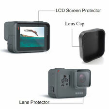 Para GoPro Hero 5 Pantalla LCD + Film Protector de Lente Folil + Tapa del objetivo