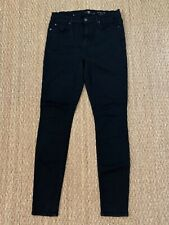 Seven 7 for all Mankind Black the High Waist Skinny Jeans Size 29